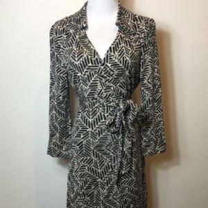 Diane von Furstenburg Vintage Printed Wrap Dress